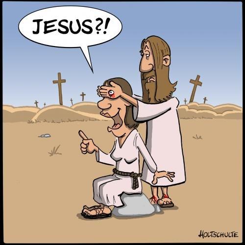 Jesus. .. Mom?! Jesus Mom?!