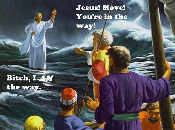Jesus. .. Dumping Jesus..