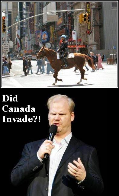 Jim Gaffigan's views on horseback cops. . Did Canada Invade?! Jim Gaffigan's views on horseback cops Did Canada Invade?!