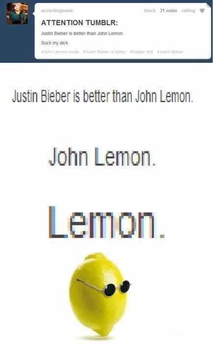 John Lemon. wut...i dunt even.... ATTENTION : arson Elm: -er rs Hum Bull my ll-[ I Mth Ciel) er it beter [hall JOHN Lam John Lemon.. LEMON 4 LYFE BITCHES!!!!!! ur all fags