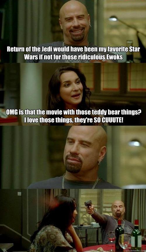 John Travolta Hates Ewoks. . john travolta ha