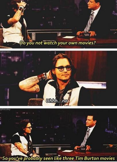 "Johnny Depp. . qdqs probably seen "" three Tim Burton movies. Post about Johnny Depp? Better role numbers for some reasons Johnny Depp qdqs probably seen "" three Tim Burton movies Post about Depp? Better role numbers for some reasons"