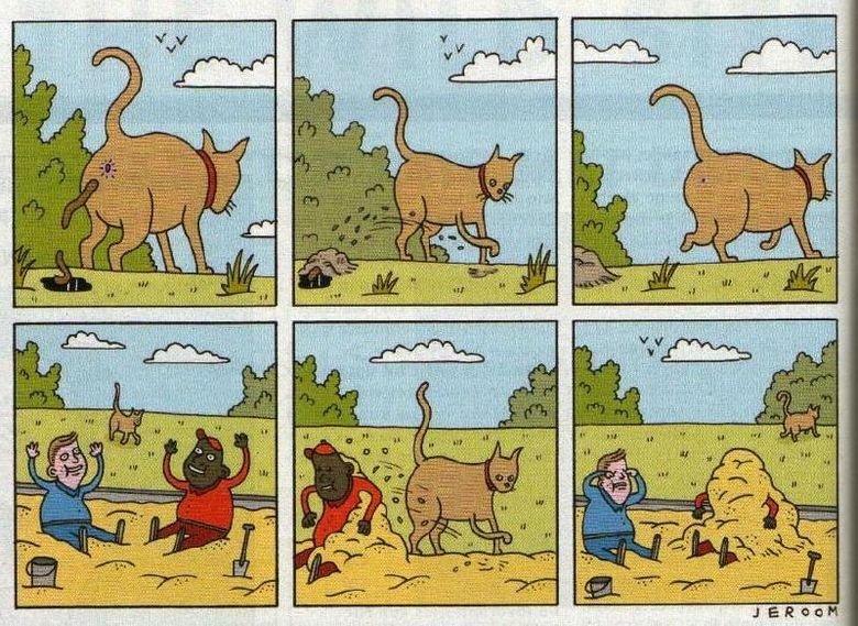 Just a comic. not mine... That's a huge ass cat Cats sand