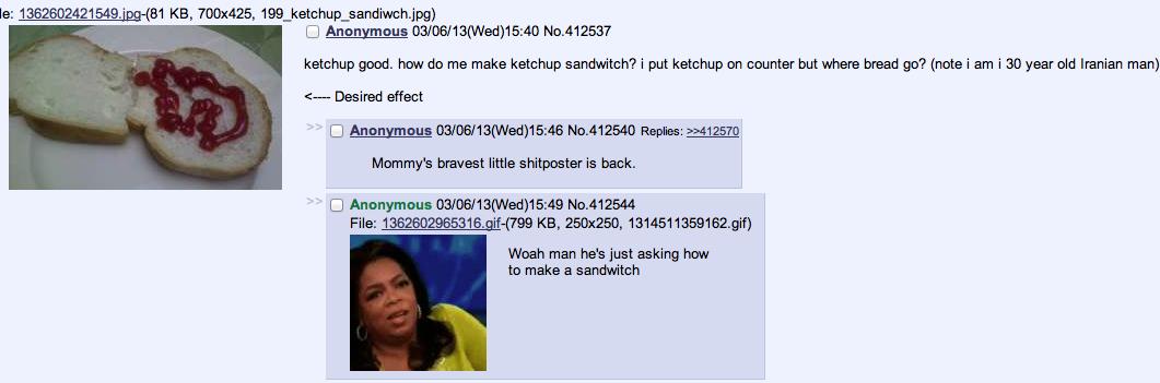Just trying to make a sandwich.... . chan sandwich iranian