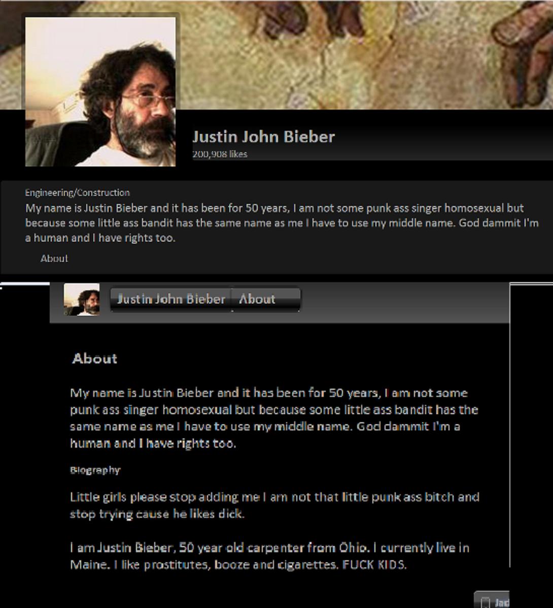 Justin John Bieber. .. YES. Justin John Bieber YES