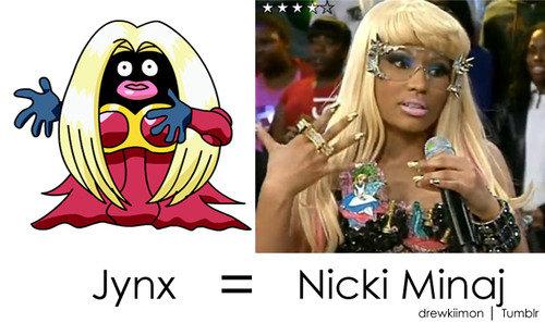 Jynx Nicki Minaj LookaLike. quite racist but i lol'd. Jynx = Nicki in I Tantum: jynx nicki minaj Pokemon