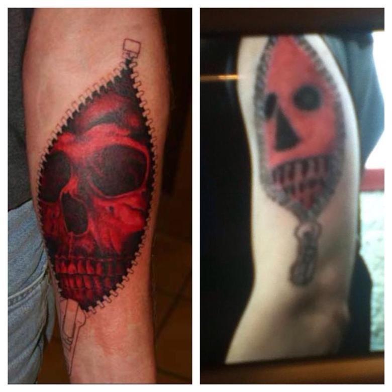 Nailed it.. .. greed anyone? Tattoo fail