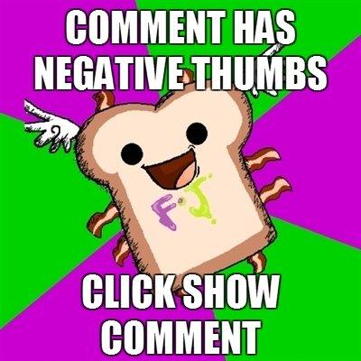 Negative Comment thumbs. .. top 200 :D FJ meme negative comment