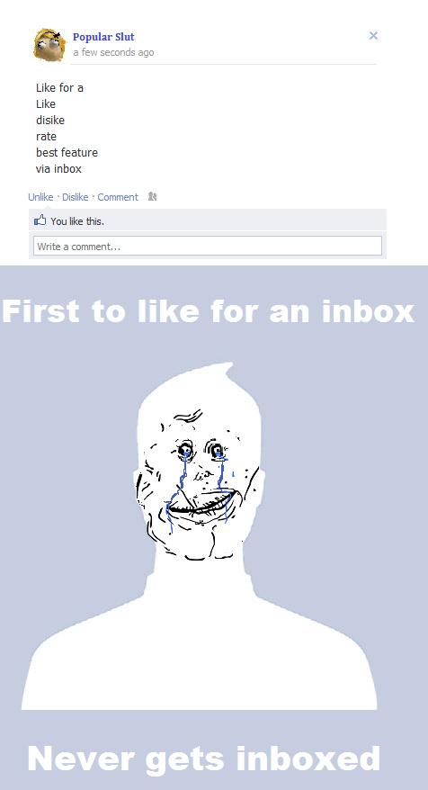 Never been inboxed. 1000.33% OC tags almost had sex with me. Popular Slut I a Few ago Like fer a Like dislke rate best feature via Inbox Unlike . Dislike . Kerr eww lyke nowai