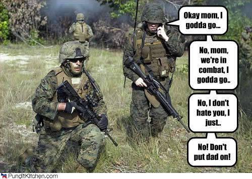 Never call home. phone call home. Gime! Military phone call