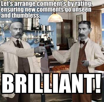 New comment formatting. makes zero sense..... problem solved New comment formatting makes zero sense problem solved