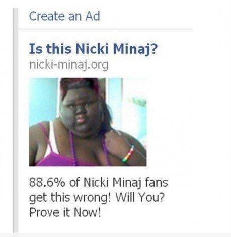 Nicki Minaj's twin?. nicki minaj had a twin that has a much bigger ass. Create an Ad Is this Nicki Mina? 88. 6% of Nicki Mina) fans get this wrong! will You? Pr nicki minaj big