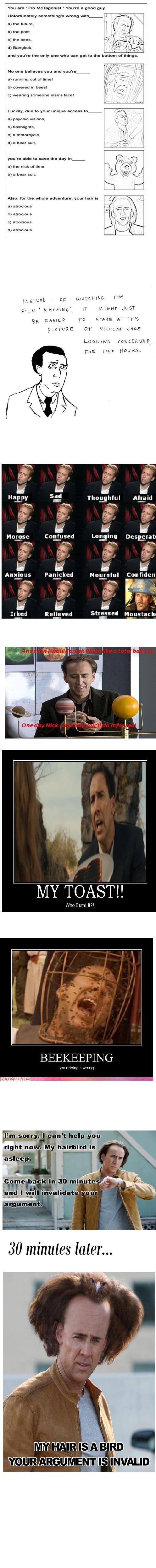 "Nicolas Cage My Hero. A dedication to my hero. Thumb is Nicolas Cage is also your hero. You are 'Pro ."" You' re u one any. omu. mo-- varona with n m. tuturu my  nicolas cage hero lol"