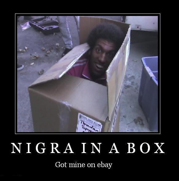 nigger in a box. . NIGRA Ital. A BOX Got mine on ehar nigga in a Box