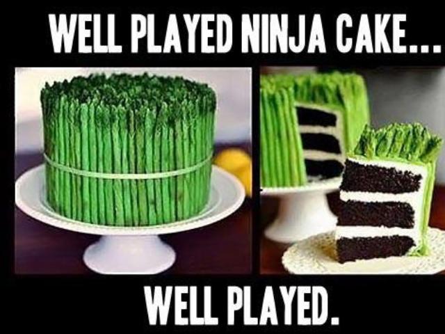 Ninja Vegetable. Must have Please. WELL PLAYED NINJA CAKE... WELL PLAYED. Cake