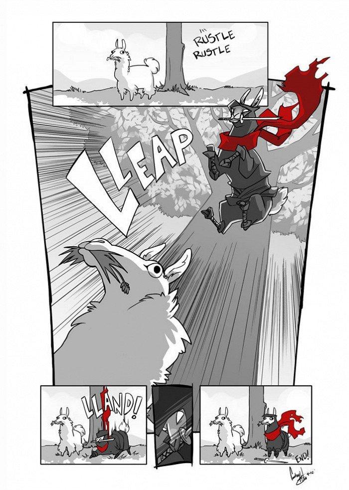 ninja Llama. link: artige.no/bilde/3090.. LLAMAS! Llama