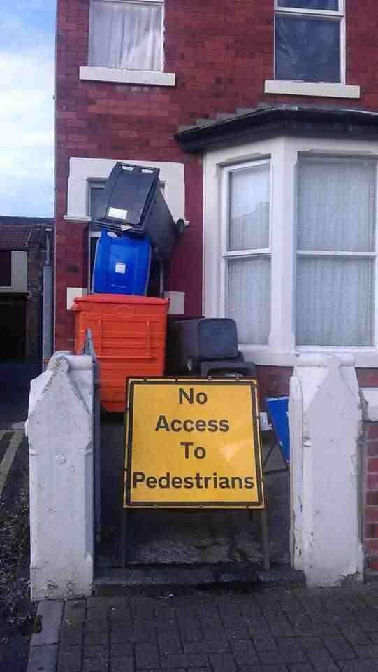 No pedestrians. . No pedestrians