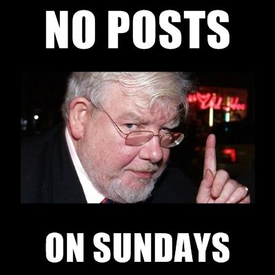 No posts on Sundays. . no posts on sundays richard griffiths
