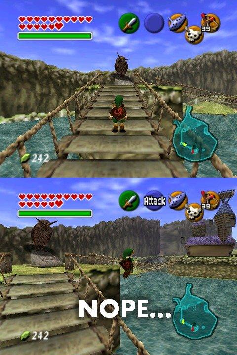 nope. I'd jump off a bridge... damn it i miss that game Jump off a bridge owl Zelda