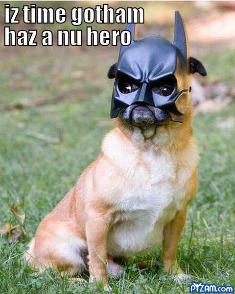Nu hero.. .. lol lil smurf woman gets of old smurf man new batman