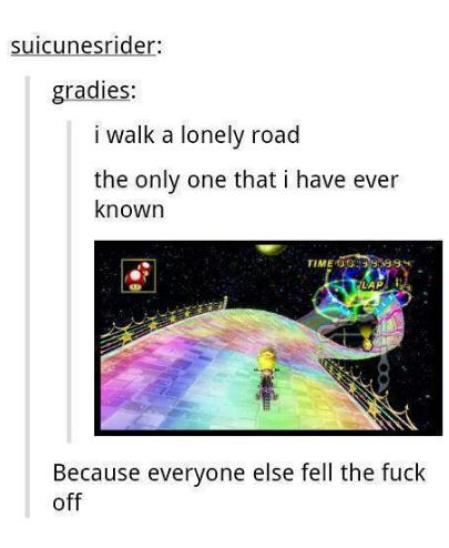 Rainbow road. . Rainbow road
