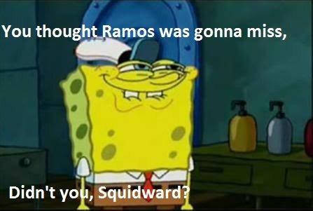 Ramos. I did... YOU CHRISTIANO HAHA! nooooo