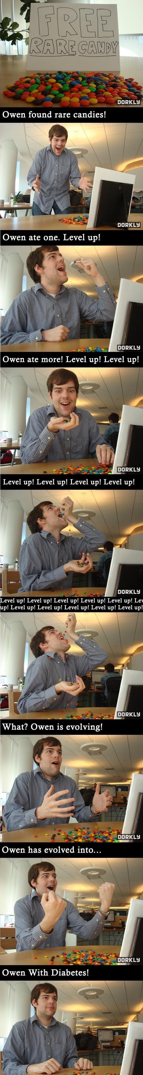 "Rare candy problems. . DARKLY Owen found rare candies! DARYLB Owen ate more! Level up! Level up! g"" ious Level up! Level up! Level up! Level up! I evel up! Leve Rare candy problems DARKLY Owen found rare candies! DARYLB ate more! Level up! g"" ious I evel Leve"