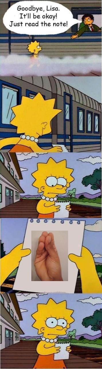 READ. . Goodbye, Lisa. Itll be okay! Just read the natal,. OP USED REPOSTING FAGGOT ITS VERY EFFECTIVE! lisa Letter