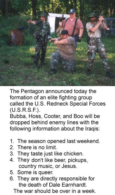Redneck Militia. . sexy Fat funny War violence