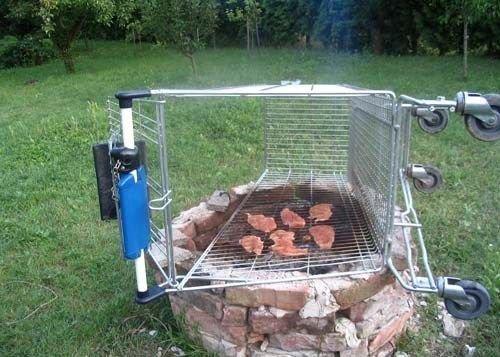 redneck gril. . grill cart Food hamburgers