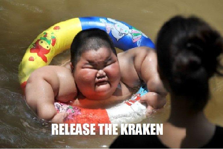 Release The Krakenn!. . funny Fat kraken