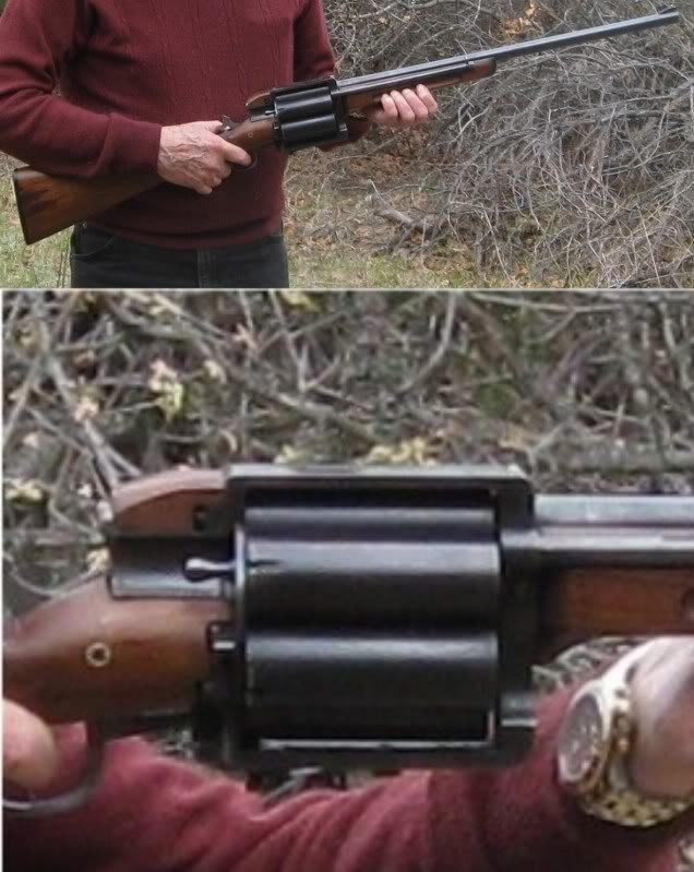 Revolver shotgun. next come the revolving rpgs.. Who else thought borderlands? Revolver shotgun next come the revolving rpgs Who else thought borderlands?