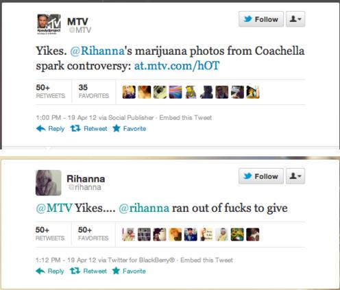 """Rihanna. : 0. MTV Inf Ia In Yikes. ' s marijuana photos from spark controversy: / hayr' 5"""" as tiill, I Riha , I Fella: In i) . (i? rihanna ran out nofucku to gi nope"""