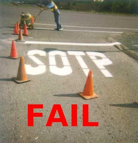 Road Contruction FAIL. Road Contruction fail.. Spelling fail! stop fail sotp r