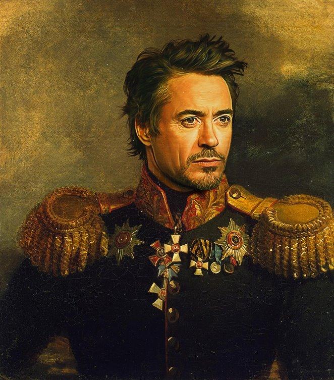 Robert Downey Jr.. seems legit.. funny oil painting robert downey Jr