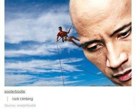 Rock climbing. . ruck demoing. Que? Rock climbing guys youguys