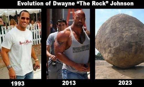 "Rock. . Evolution of Dwayne ""The Rock"" Johnson. 2040 Rock Evolution of Dwayne ""The Rock"" Johnson 2040"