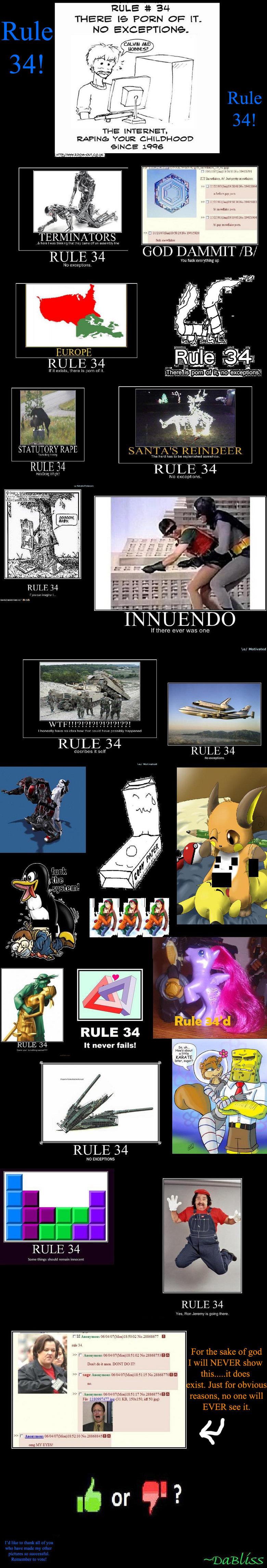 """Rule 34!. Here ya go! I hope ya like it! Remember to vote!. RULE 34 """" never fails'. RULE it MP, THERE Te PORN OF' """" THE INTERNET» YOUR CHILDHOOD GINGE J. RULE 3 rawr Fuu FUNNYJUNK funny lol Boobs"""
