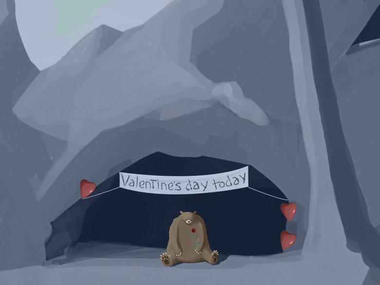 Valentines Day. For one sad bear.. Original Valentines Day For one sad bear Original