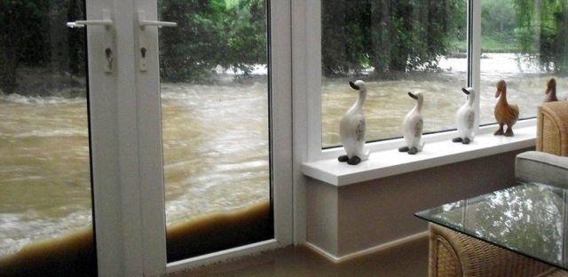 View trough window. river.. Where do you live? nice view