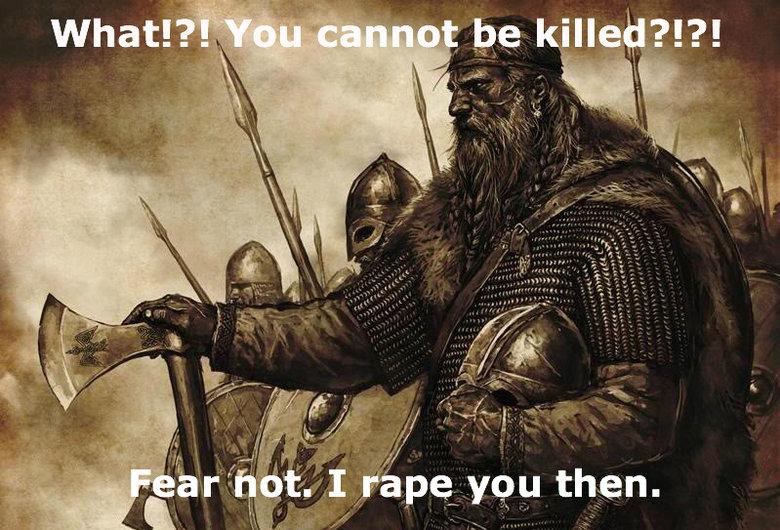 viking. Vikings rape you!.. yeah, menu screen from Mount and Blade Warband viking