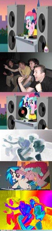 Vinyl Scratch is Awesome. I think we all love Vinyl Scratch, everyone, EVER. . Ponys Pinkie Pie Rainbow dash MLP Vinyl scratch