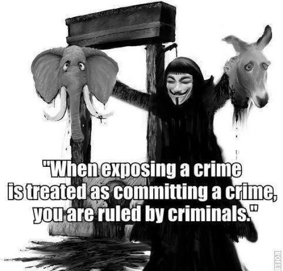 "Viva La Anonymous!. . EB "" crime. by criminals. Viva La Anonymous! EB "" crime by criminals"