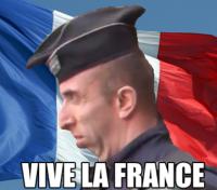 VIVA LA FRANCE. . iii, ii) mu: Iyi'. I see no lions here.. VIVA LA FRANCE iii ii) mu: Iyi' I see no lions here