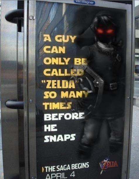 Zelda? I don't think so.... It was bound to happen.. Original is still better. Zelda