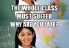 Annoying teacher comp
