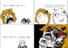 Girl afraid of spiders