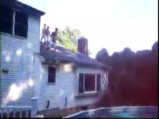 Rooftop pool jump fail. haha, more at .