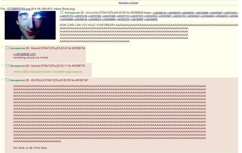/b/, normal people. . l' u: Iare raise In n 4: 41 a n I File: ( 414 KB, 840x474, Adrien Brody. png) DH 572 C) 721 36 9: 491 (373252 9: 491 (374360 9: -4131 C) 5 b 4chan