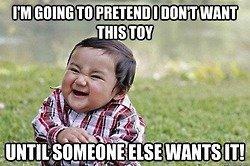 baby troll. .. kids face when kid wants it back... baby troll kids face when kid wants it back